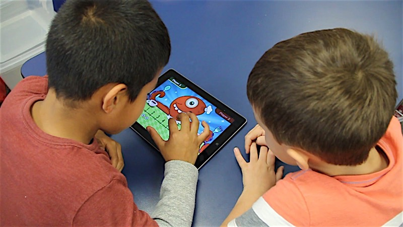 SES Students On IPad